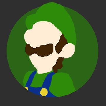 Minimalist Luigi-Style Digital Drawing by cephasgarrett
