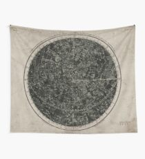 Constellations of the Northern Hemisphere on Vintage Paper Wall Tapestry