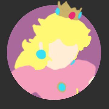 Minimalist Princess Peach-Style Drawing by cephasgarrett