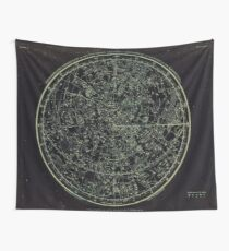 Constellations of the Northern Hemisphere | Yellowed Ink on Greys Wall Tapestry