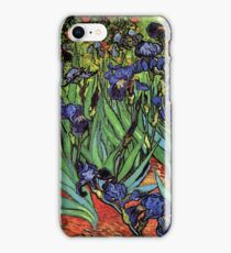 'Blue Irises' by Vincent Van Gogh (Reproduction) iPhone Case/Skin
