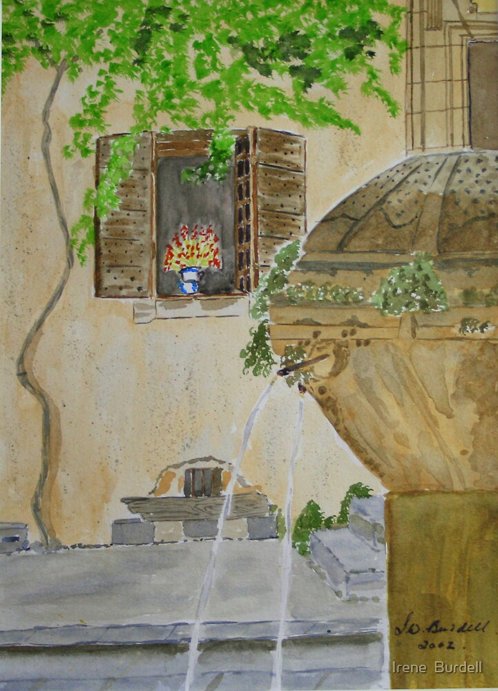 Provence   ( watercolour ) by Irene  Burdell