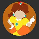 Minimalist Princess Daisy-Style Drawing by Peter Fenton