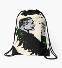 Politics and Weed - Sweet - Politician Smoking Cannabis Drawstring Bag
