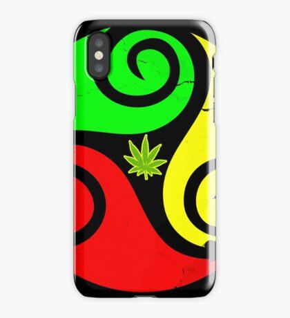Reggae Love Vibes - Cannabis Reggae Flag iPhone Case/Skin