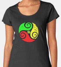 Reggae Love Vibes - Cannabis Reggae Flag Women's Premium T-Shirt