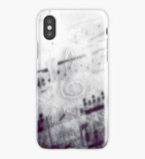 Music! Treble clef with Grunge Vintage Texture - DJ Retro Music  iPhone Case/Skin