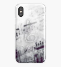 Music! Treble clef with Grunge Vintage Texture - DJ Retro Music  iPhone XS Case