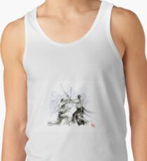 Mens gift ideas, aikido martial arts, ink drawing large poster Tank Top