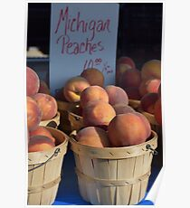Michigan Peaches Poster