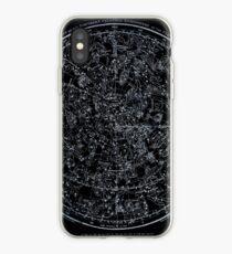 Sternbilder der nördlichen Hemisphäre | Hellblau auf Schwarz iPhone-Hülle & Cover