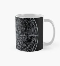 Constellations of the Northern Hemisphere | Pale Blue On Black Mug
