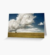 Lonely in the field Greeting Card