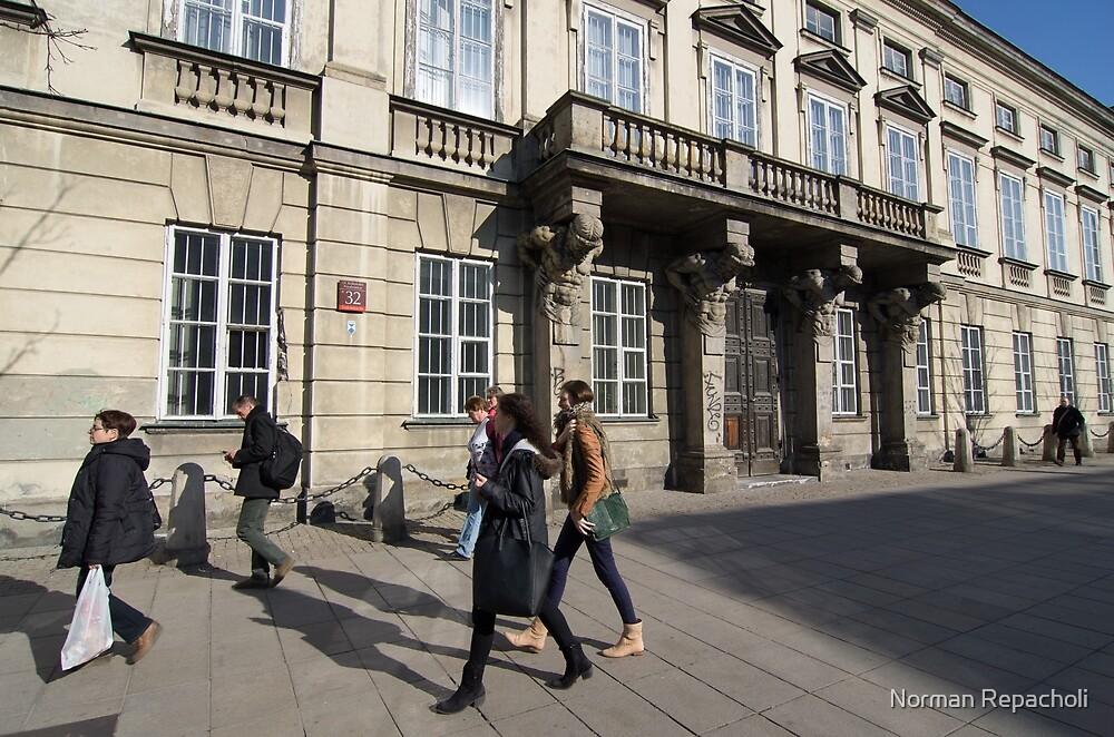 Grand Entrance - Warsaw Poland by Norman Repacholi