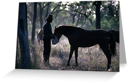 A MAN AND HIS HORSE by helmutk