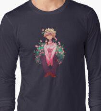 Bakugou in Pink Long Sleeve T-Shirt