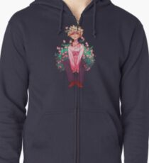 Bakugou in Pink Zipped Hoodie