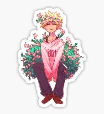 Bakugou en rose Sticker