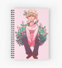 Bakugou in Pink Spiral Notebook