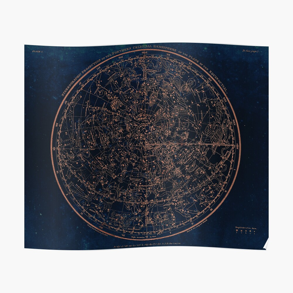 Constellations of the Northern Hemisphere Poster