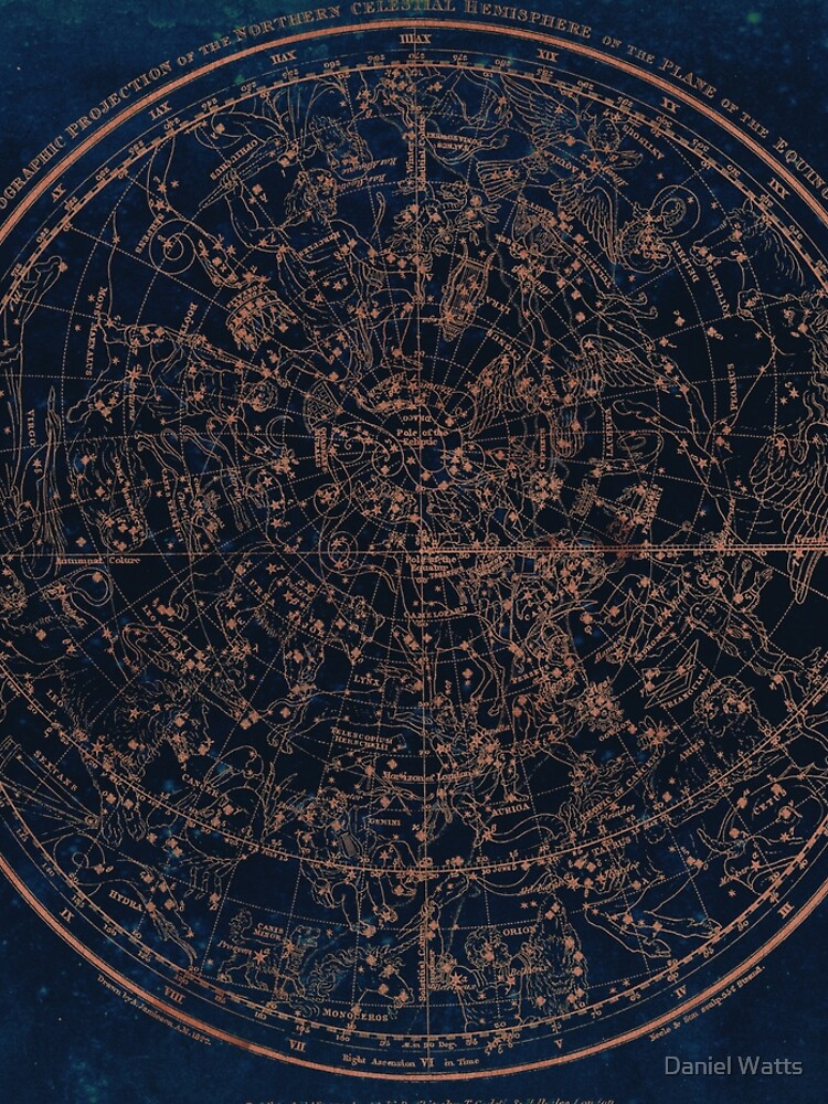 Constellations of the Northern Hemisphere by DanJohnDesign