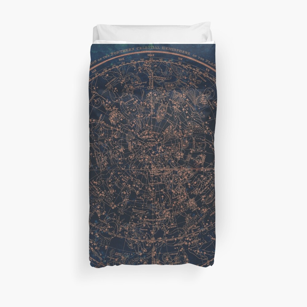 Constellations of the Northern Hemisphere Duvet Cover