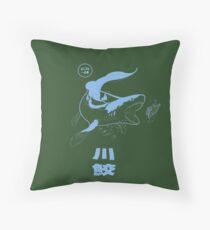 Xenacanthus, prehistoric Shark, River shark. Throw Pillow