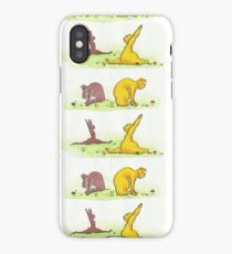 Bunny and Bear Yoga iPhone Case/Skin