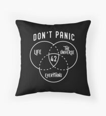 42 The Answer to Life, Universe, and Everything. Throw Pillow
