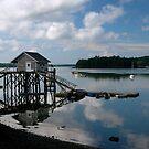 Lobsterman's shack, Damarascotta, Maine by fauselr