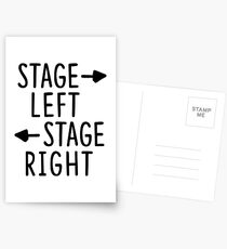 stage left stage right theatre shirt Postcards