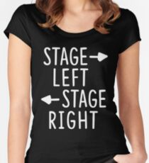 stage left stage right theatre shirt Women's Fitted Scoop T-Shirt