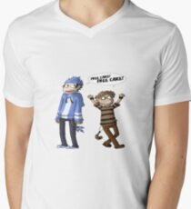 Mordecai And Rigby  Men's V-Neck T-Shirt