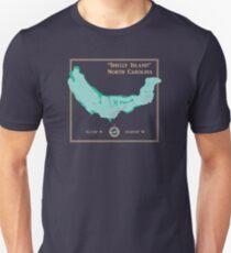 Shelly Island North Carolina map Unisex T-Shirt
