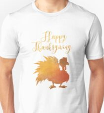 Happy Thanksgiving Turkey Minimal Abstract T-Shirt