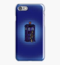 Time And Relative Pixels: Fourth Doctor iPhone Case/Skin