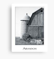 abandon Canvas Print