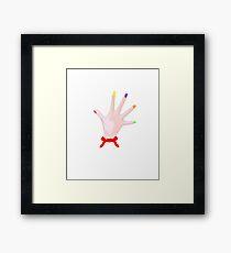 Dexter Hands Framed Print
