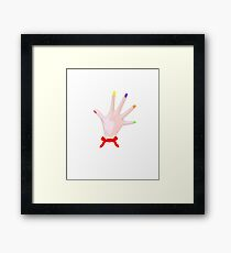 Dexter Hands Framed Print