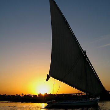Sunset on Nile by palinchak
