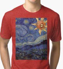 Pokemon Starry Night Solrock Tri-blend T-Shirt