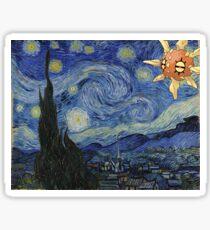 Pokemon Starry Night Solrock Sticker