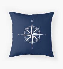 Nautischer Stern | Kompass | Maritim | Nautische Dekoration Throw Pillow