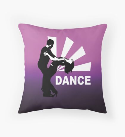 lets dance and have fun Throw Pillow