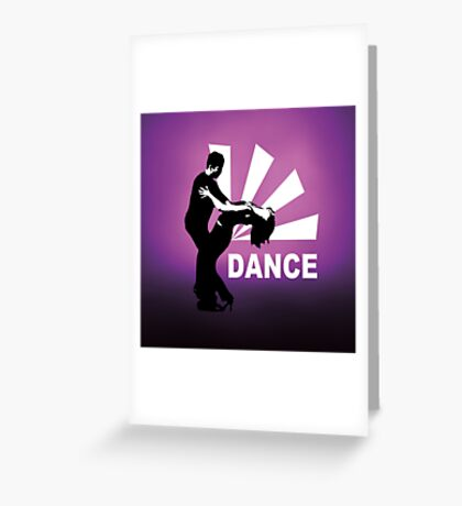 lets dance and have fun Greeting Card