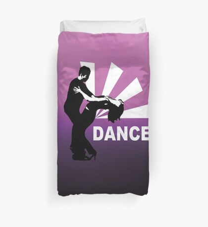lets dance and have fun Duvet Cover