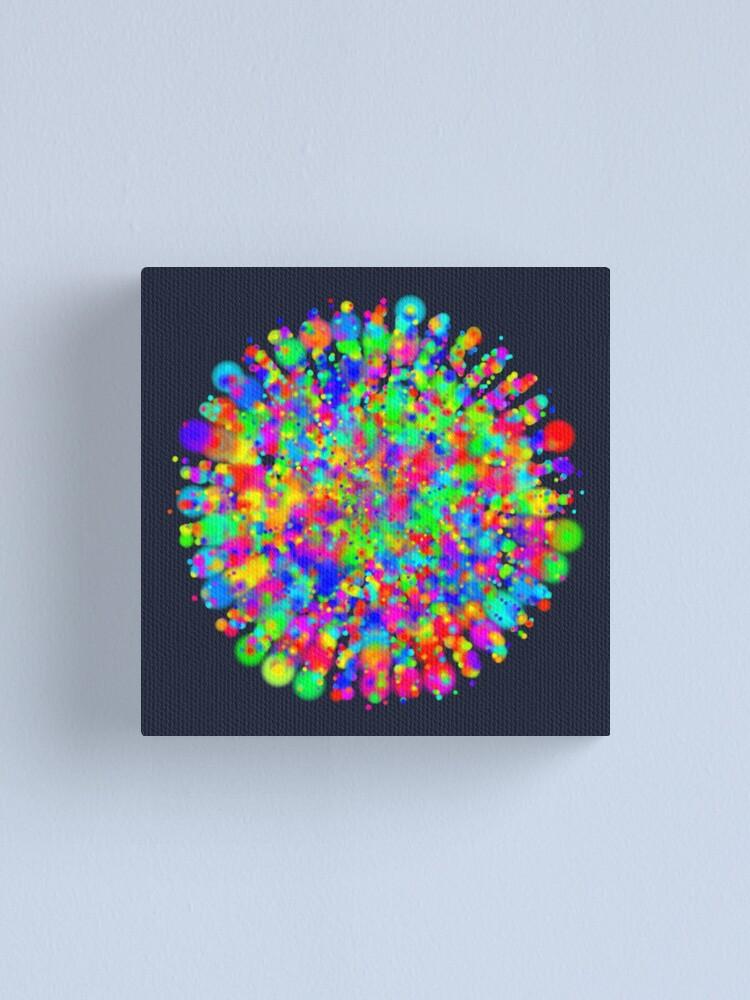Alternate view of Space color splash Canvas Print