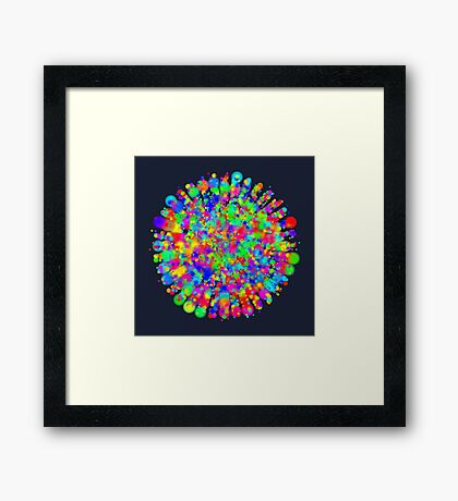 Space color splash Framed Print