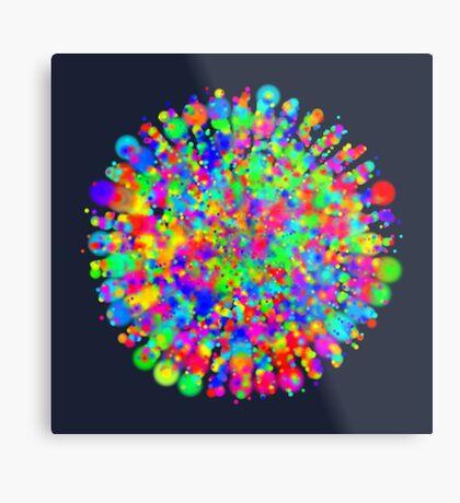 Space color splash Metal Print