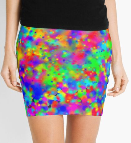 Space color splash Mini Skirt